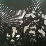Opdracht om twee huisdieren samen te portretterenTwee huisdieren