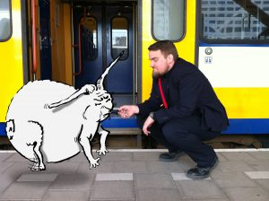 Conducteur Peter met het konijn